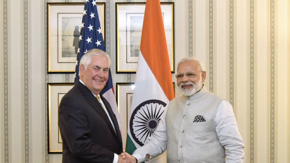 He also met US secretary of state Rex W Tillerson. The situation in the Indo-Pacific and Asia-Pacific regions was discussed by Modi and Tillerson. (AFP)