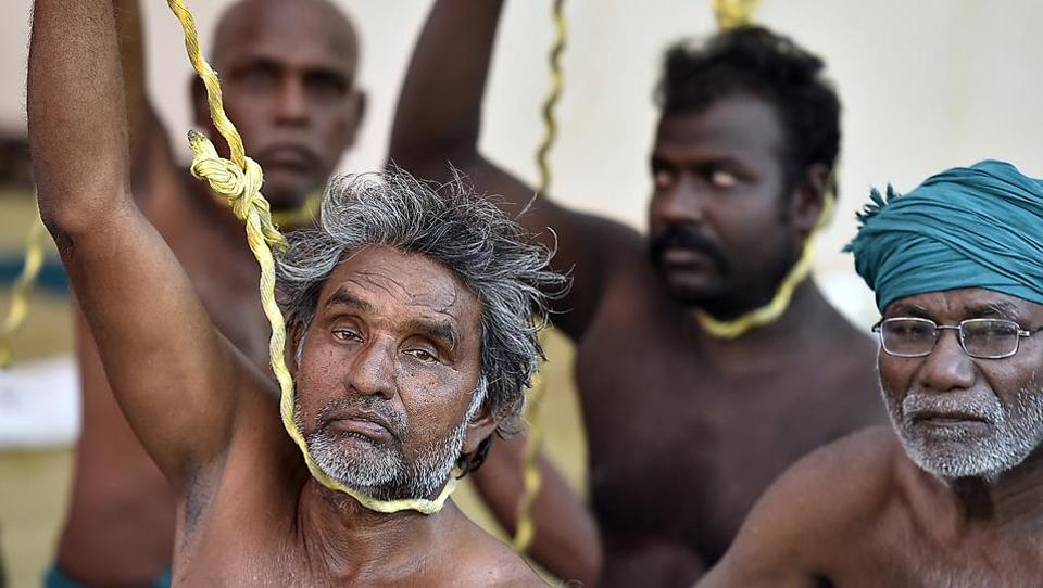 Farmers stage a protest demanding government sops to prevent farmer suicides in Tamil Nadu. In Maharashtra, farmers are demanding better terms for the state's loan waiver  scheme.