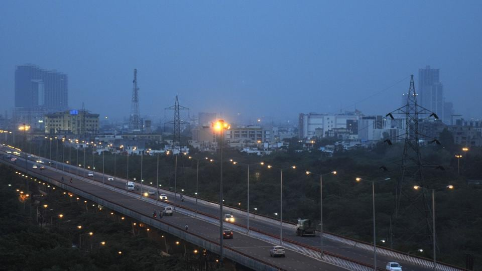 The road was inspected on Tuesday evening by the CEO of the Noida authority.