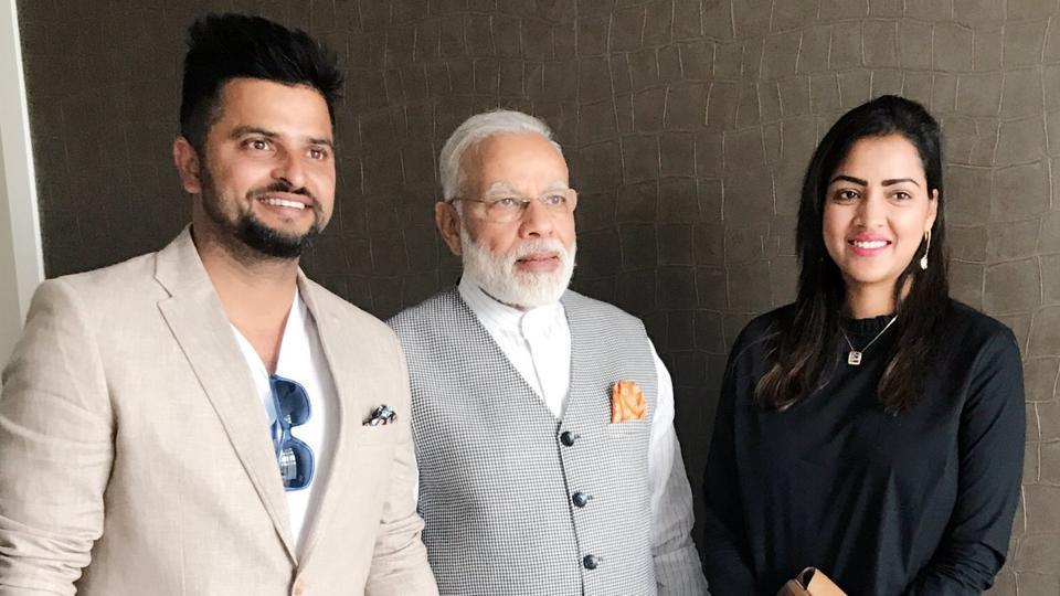 Suresh Raina recently met Prime Minister Narendra Modi in Amsterdam and he posted the photo on his Twitter and Instagram account.