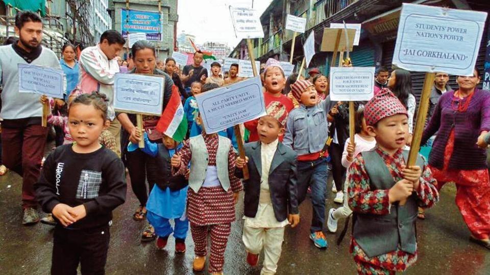 Gorkhaland,Darjeeling,Darjeeling children