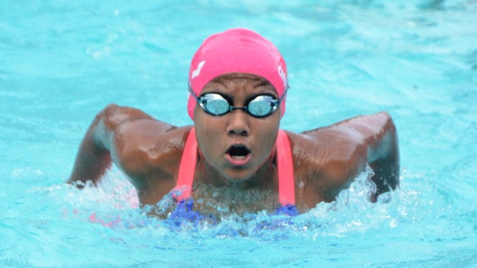 Sanjiti Saha set a national record in the 100m butterfly event.