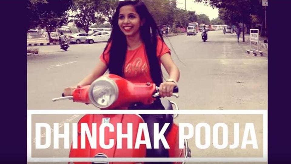 A Twitter user, Mohit Singh, alerted the police on Tuesday that she flouted traffic rules by not wearing a helmet in her latest song 'Dilon Ka Shooter' (Youtube\Screengrab)