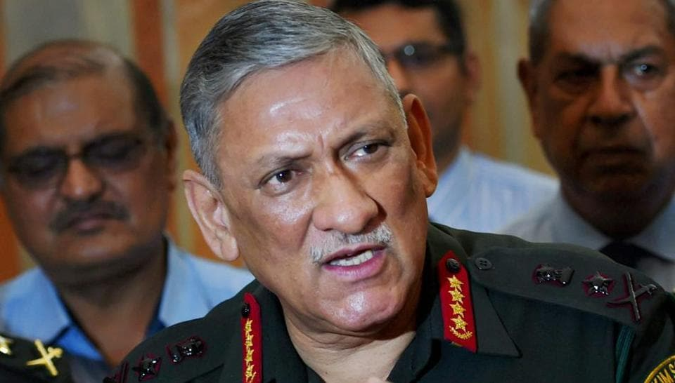 Army chief Bipin Rawat interacts with students from Jammu and Kashmir at the Defence Ministry in New Delhi.