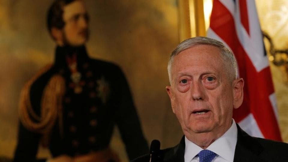 US secretary of defence Jim Mattis speaks at a press conference at the Australia-United States Ministerial Consultations (AUSMIN) at Government House in Sydney.