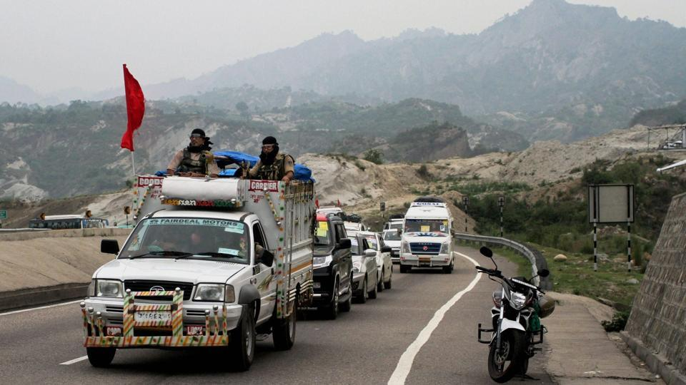 Besides Jammu and Kashmir Police, 30,000 paramilitary personnel are deployed along both yatra routes this year. The army has also deployed five battalions in the Valley for the yatra. (PTI)