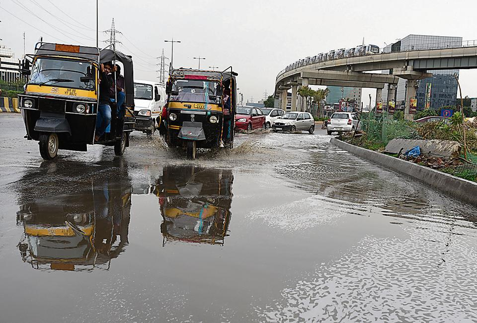 Commuters were caught unawares by the brief spell of showers on Wednesday.