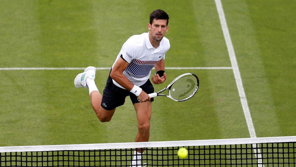 Serbia's Novak Djokovic in action during his second round match against Canada's Vasek Pospisil.