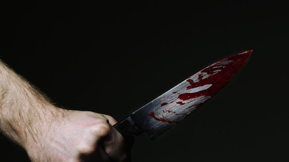 The accused then stabbed himself.