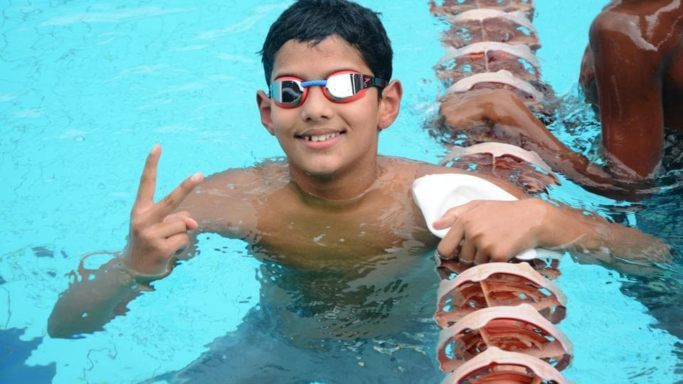 The 10-year-old had won two gold medals with two national records on the first day and took his tally to four on the second
