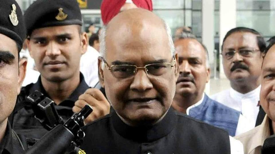 NDA presidential candidate Ram Nath Kovind at Chandigarh airport