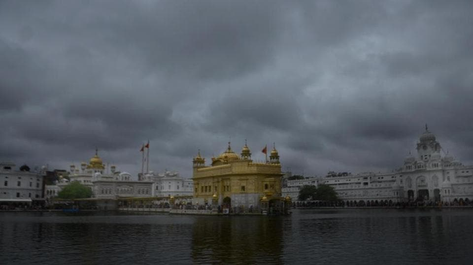 A view of the Golden Temple on a cloudy day in Amritsar on Thursday, June 29, 2017.