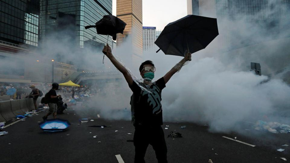 The territory has seen tumultuous times since July 1, 1997, with economic turmoil, outbreaks of disease and more recently, pro-democracy protests casting shadows over the city, its stunning harbour and the New Territories up to the border with the mainland. (Tyrone Siu / Reuters)