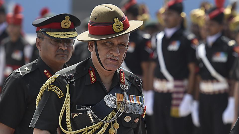 Army chief Gen Bipin Rawat is on a visit to Sikkim to review the security situation.