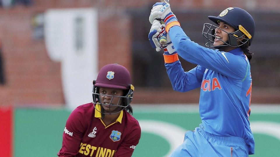 Smriti Mandhana guided India to a comprehensive victory against West Indies in the ICC Women's World Cup in Taunton on Thursday.
