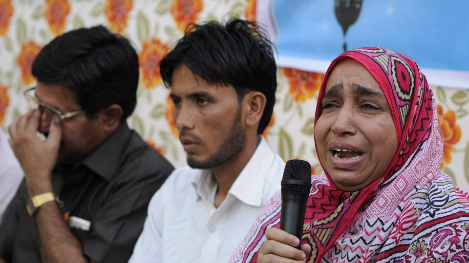 MissingJNU student Najeeb Ahmed's mother Fatima Nafees at a recent event in New Delhi. Najeeb went missing on October 16, 2016 from JNU campus. The Central Bureau of Investigation is probing his disappearance.