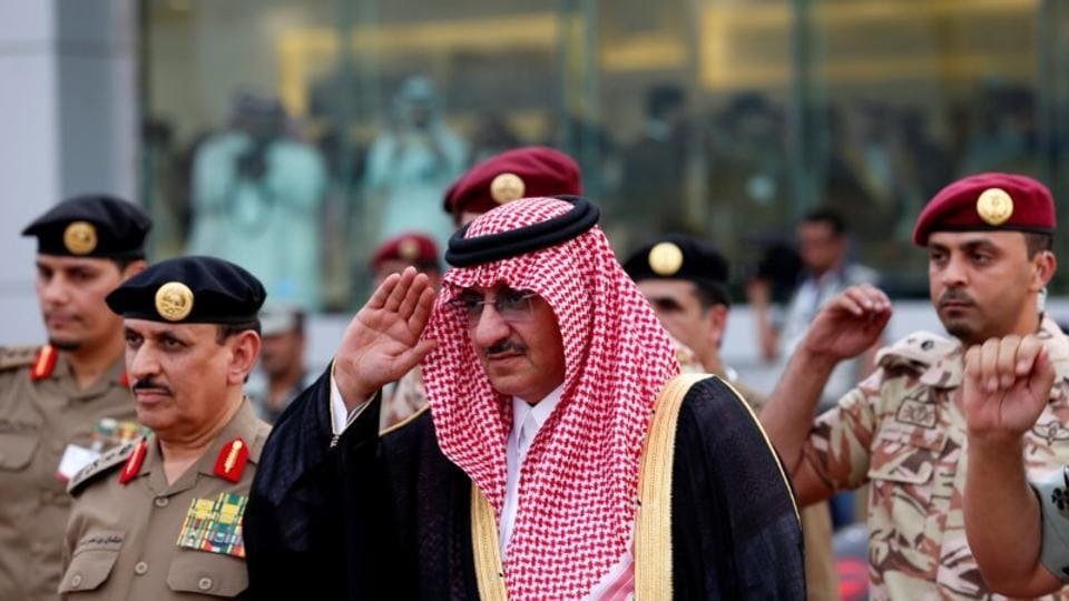 Saudi Crown Prince Mohammed Bin Nayef, the interior minister, arrives to a military parade in preparation for the annual Haj pilgrimage in the holy city of Mecca September 5, 2016.