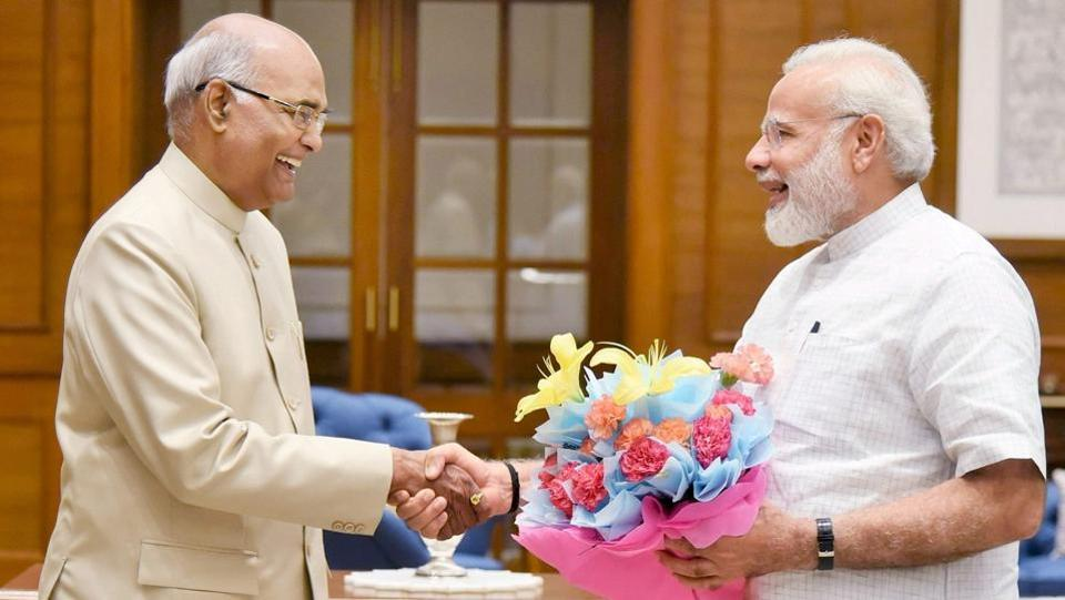 Ram Nath Kovind meets Prime Minister Narendra Modi in New Delhi on June 19, 2017. Kovind was announced as NDA's presidential nominee the same day. (PTI)