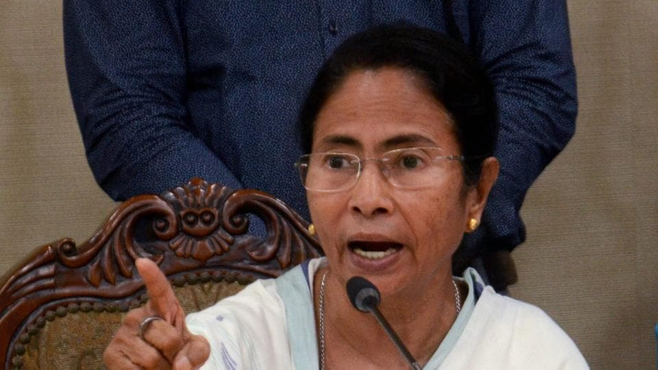 West Bengal Chief Minister Mamata Banerjee addresses media after a Peace Meeting in Kolkata.