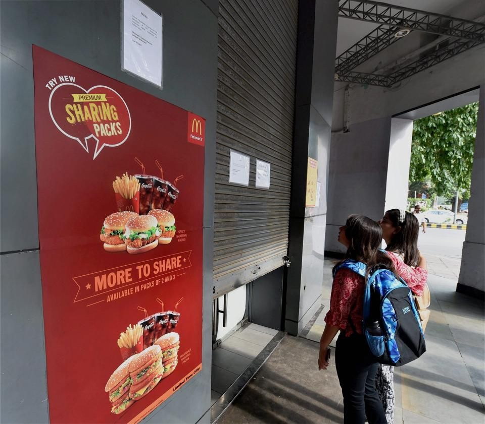 McDonald's to shut down 43 out of 55 outlets in Delhi temporarily