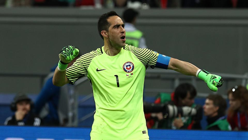 Chile goalkeeper Claudio Bravo saved three successive penalties as Chile advanced into final of the 2017 FIFA Confederations Cup with a 3-0 win over Portugal on Wednesday.