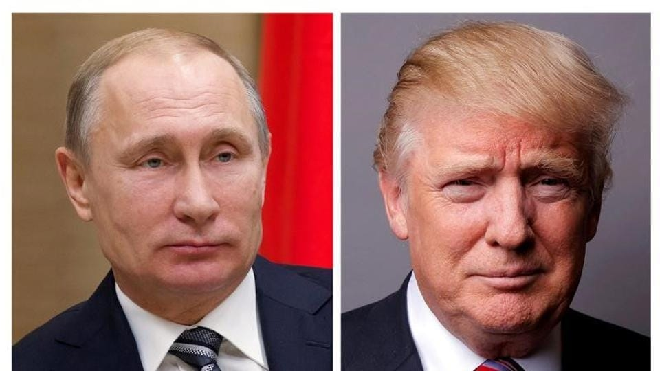 A combination of file photos shows Russian President Vladimir Putin (L) and US President Donald Trump.