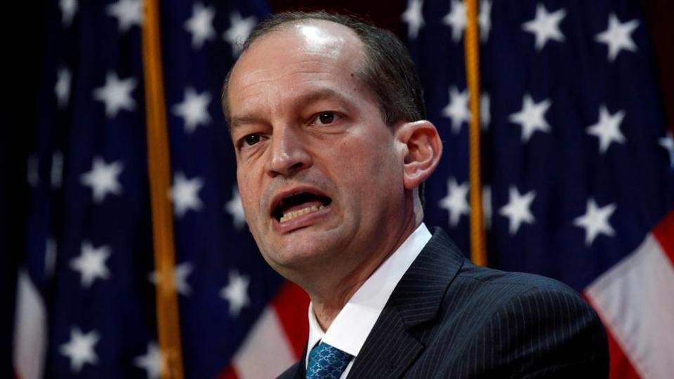US Labour Secretary Alexander Acosta speaking at the SelectUSA Investment Summit in National Harbor, Maryland, US, June 20, 2017.