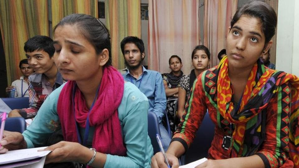 Students of the Noida Deaf Society attend a skill development class in Sector 36 of Noida. The National Skill Development plan aims to prepare people for jobs but its ambition hasn't matched implementation.