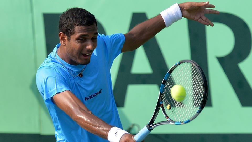 Indian player Ramkumar Ramanathan were beaten by Marcos Baghdatis at Antalya Open.