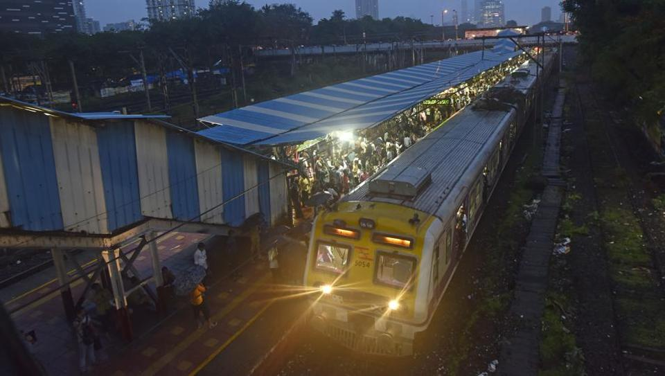 Even at Elphinstone Roas station a train stopped after a branch fell on its overhead wires and caused sparks.