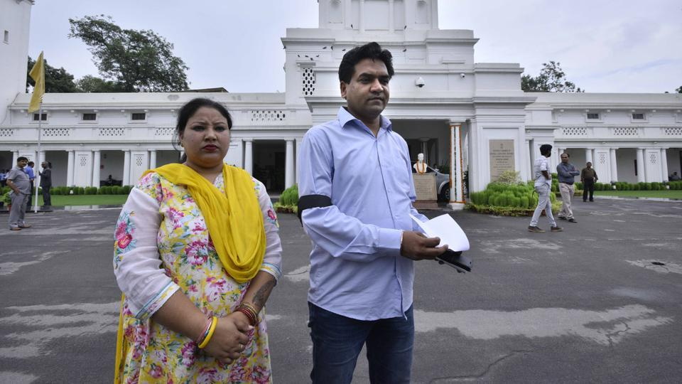 Sacked AAP minister KapilMishra after being marshalled out of the Delhi Assembly on Thursday for allegedly creating ruckus.