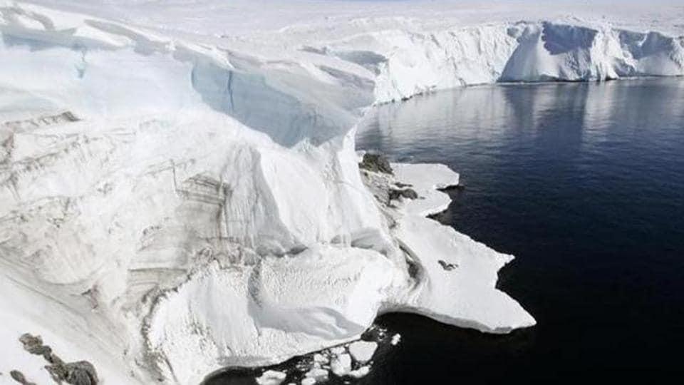 A representational pic of Antarctica.