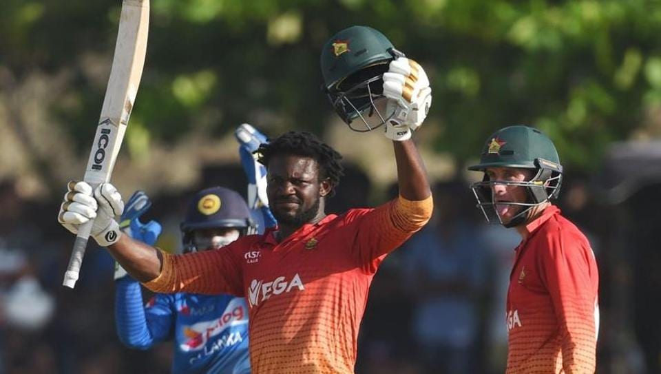 Solomon Mire's century helped Zimbabwe thrash Sri Lanka by six wickets in the first ODI in Galle.