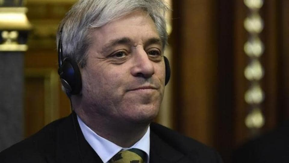 File photo of John Bercow, the speaker of the House of Commons, at the Houses of Parliament in London in March 2015.