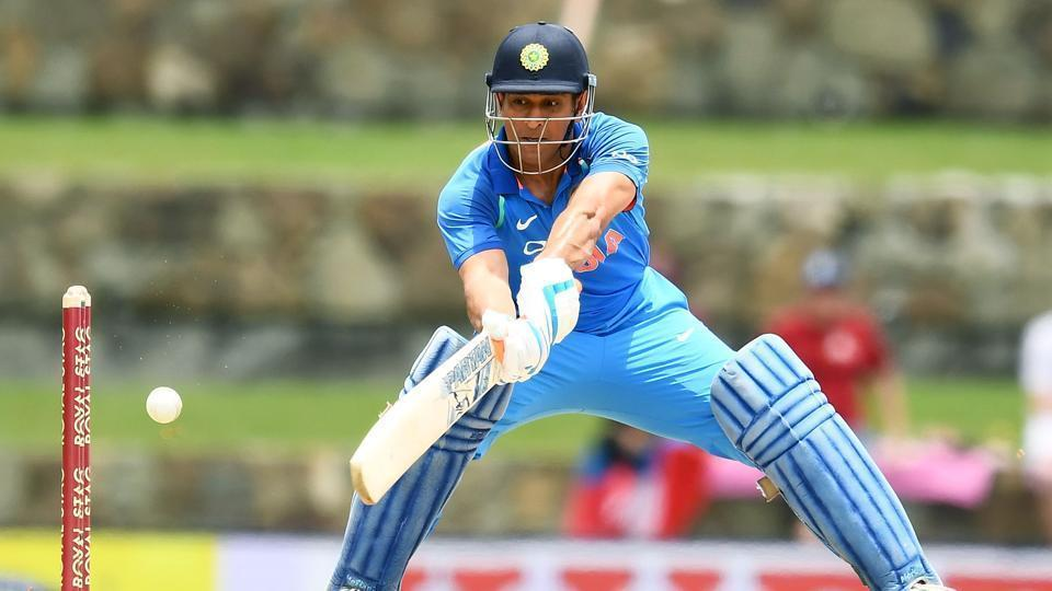 MS Dhoni's unbeaten 78 propelled India to 251/4 against the West Indies in third ODI of the five-match series in Antigua.