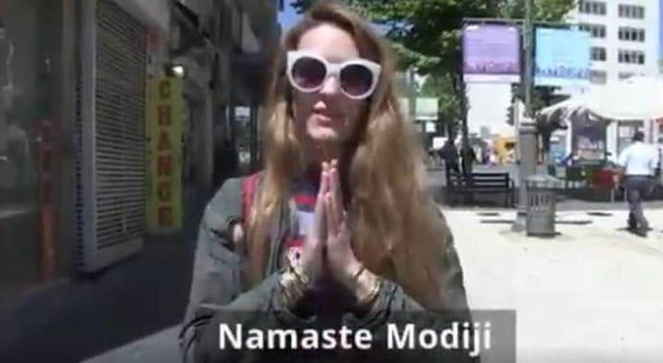 Posted on Israeli embassy's Twitter account, the video shows Israeli citizens welcoming Prime Minister Narendra Modi in Hindi ahead of his three-day visit to Israel from next Tuesday. @Israelinindia Twitter-Screengrab)