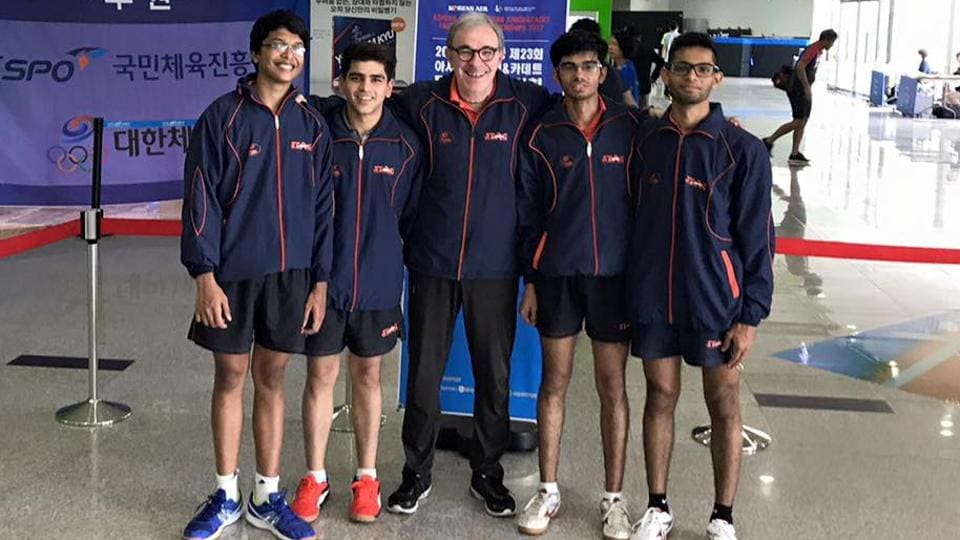 The Indian boys have ensured a bronze medal at the Asian Junior and Cadet Table Tennis Championships.