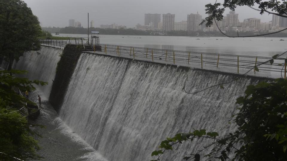 The Powai dam overflowed on Thursday.