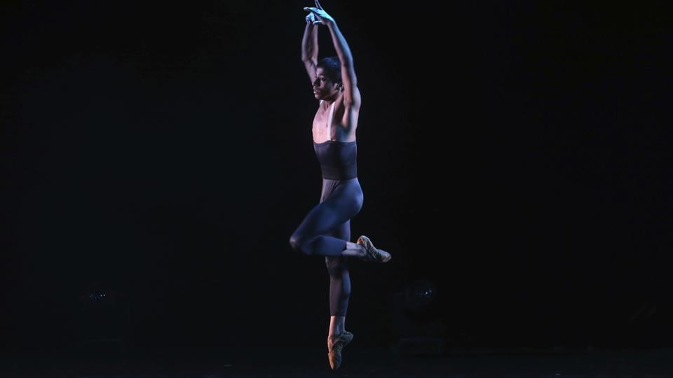 15-year-old ballet dancer Amiruddin Shah performs at a show in Mumbai, India. The teenage son of a welder from a Mumbai slum won a spot at the prestigious American Ballet Theatre's Jacqueline Kennedy Onassis School in New York. Shah was doing backflips and contemporary dance when his American Israeli instructor first discovered his talent. Shah had been dancing at weddings and other functions since the age of six.  (Rajanish Kakade/AP)