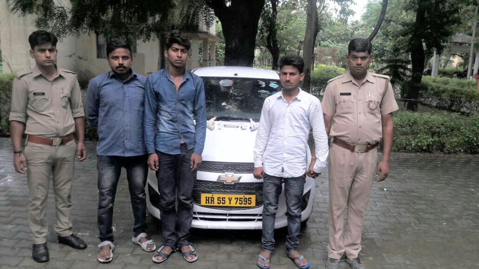 Vikrant and Sumit are from Mainpuri district while Abhishek is from Etah district of Uttar Pradesh, police said.