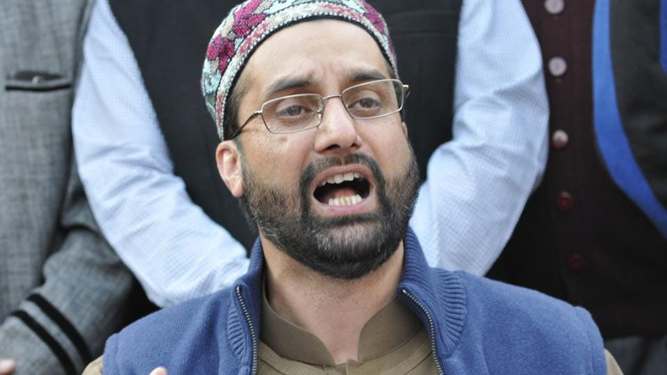 Mirwaiz Umar Farooq, the chairman of the moderate section of the Hurriyat Conference.