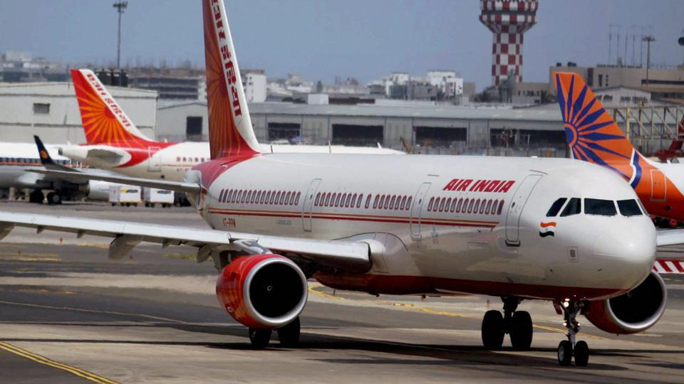 Air India planes seen parked at the Mumbai airport in May 2010.