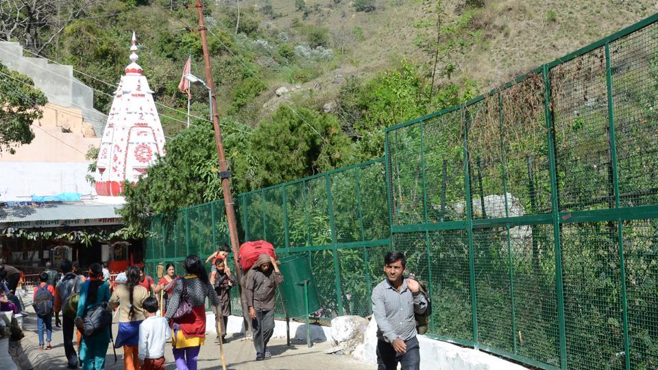 A view of fencing track at Vaishno Devi.