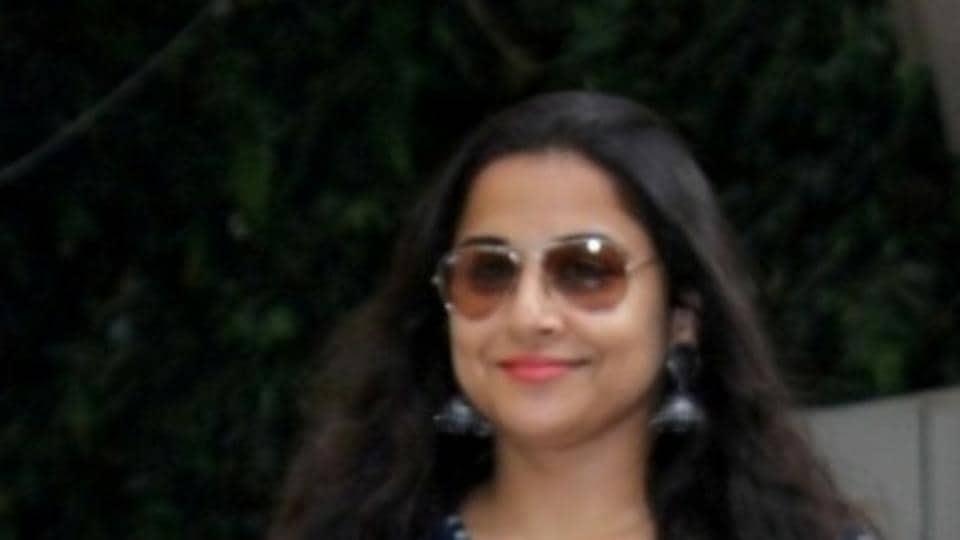 Mumbai: Actress Vidya Balan spotted at outside of Arjun Rampal`s office in Mumbai on June 23, 2017. (Photo: IANS)