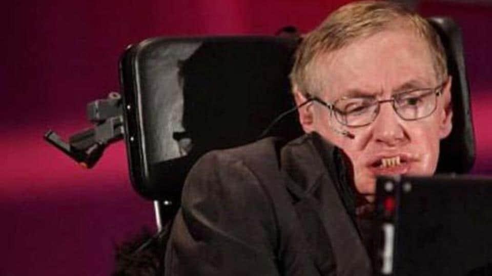 Professor Stephen Hawking speaks during a lecture in Waterloo, Ontario