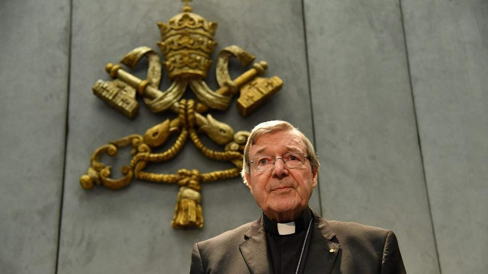 TAustralian Cardinal George Pell makes a statement at the Holy See Press Office, Vatican city on June 29, 2017 after being charged with historical sex offences in a case that has rocked the church.