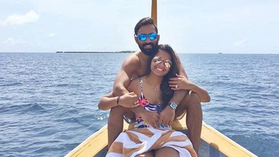 Dipika Pallikal is currently with husband Dinesh Karthik in Antigua. Indian cricket team is in West Indies for limited overs series.
