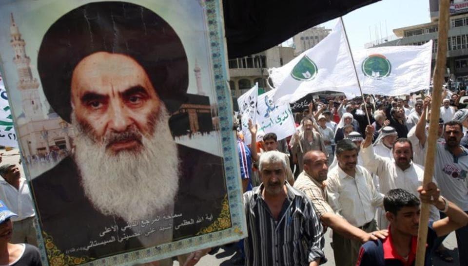 Image result for Grand Ayatollah Ali al-Sistani, Iraq, photos