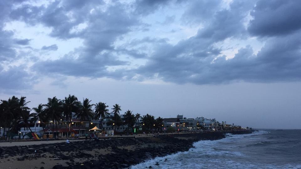 Pondicherry by twilight.