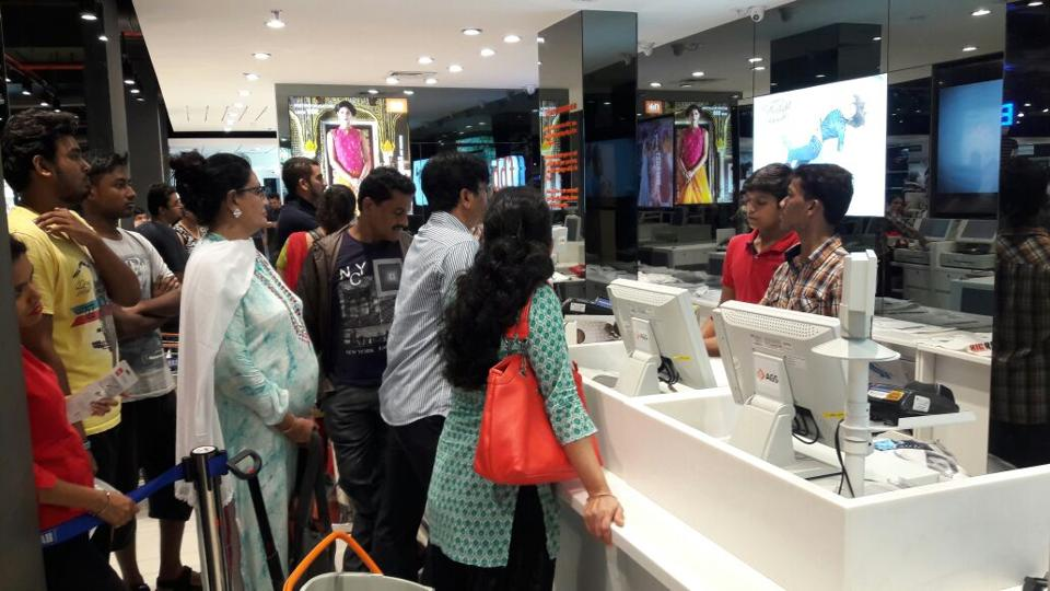 Scores of Thane residents flocked to a nearby mall early on Saturday.